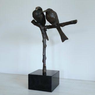 Love Birds - Bronzen beeld
